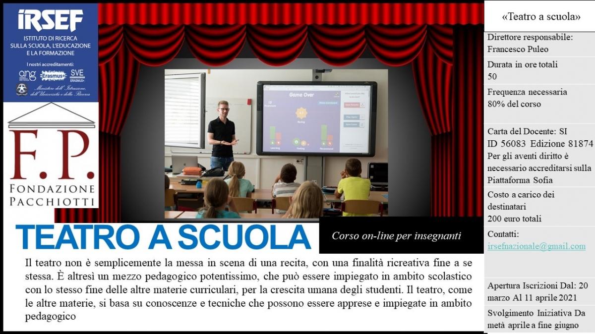 Teatro a Scuola - IRSEF